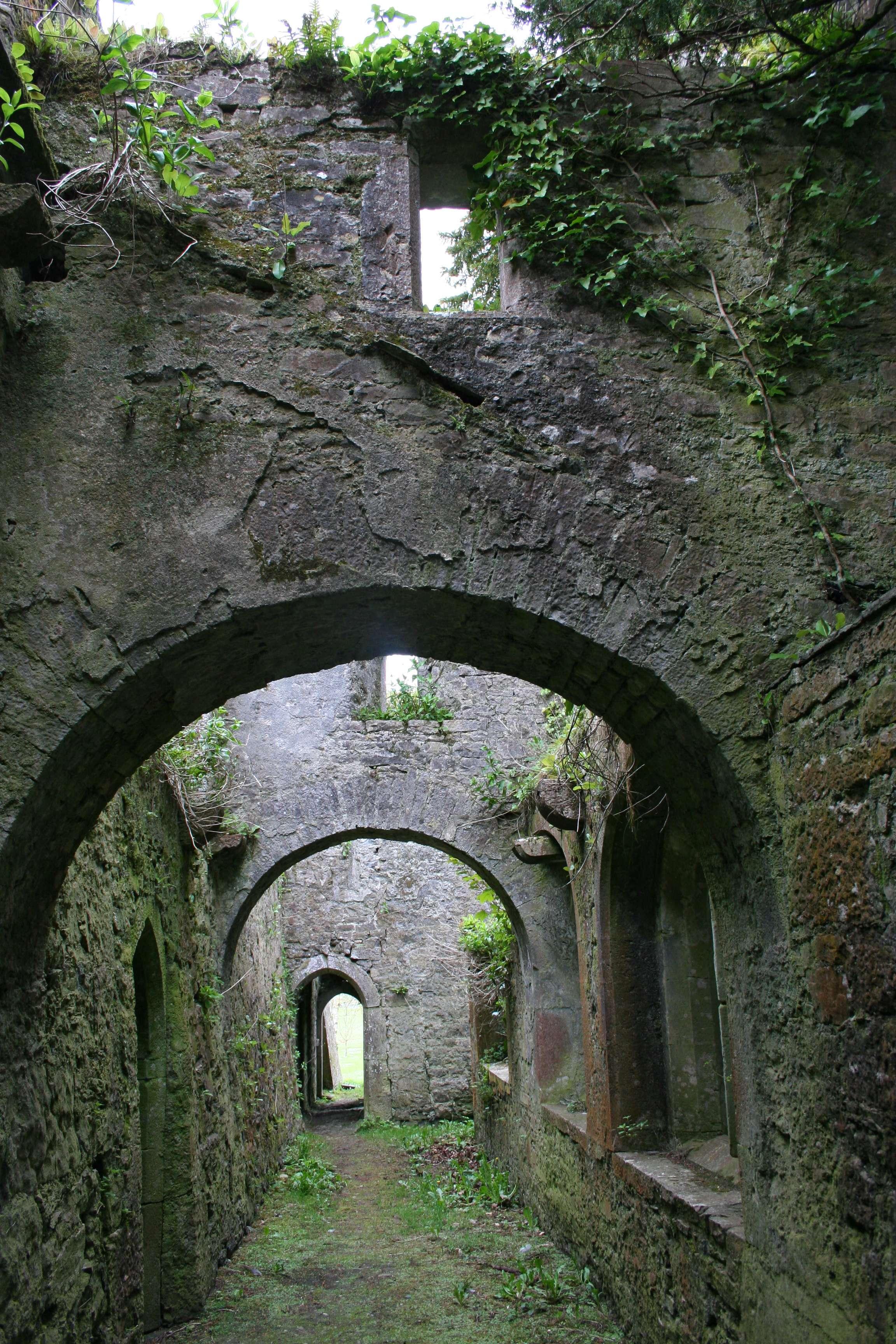 149 Franciscan Friary entre cloitre et nef , Adare, le 29 04