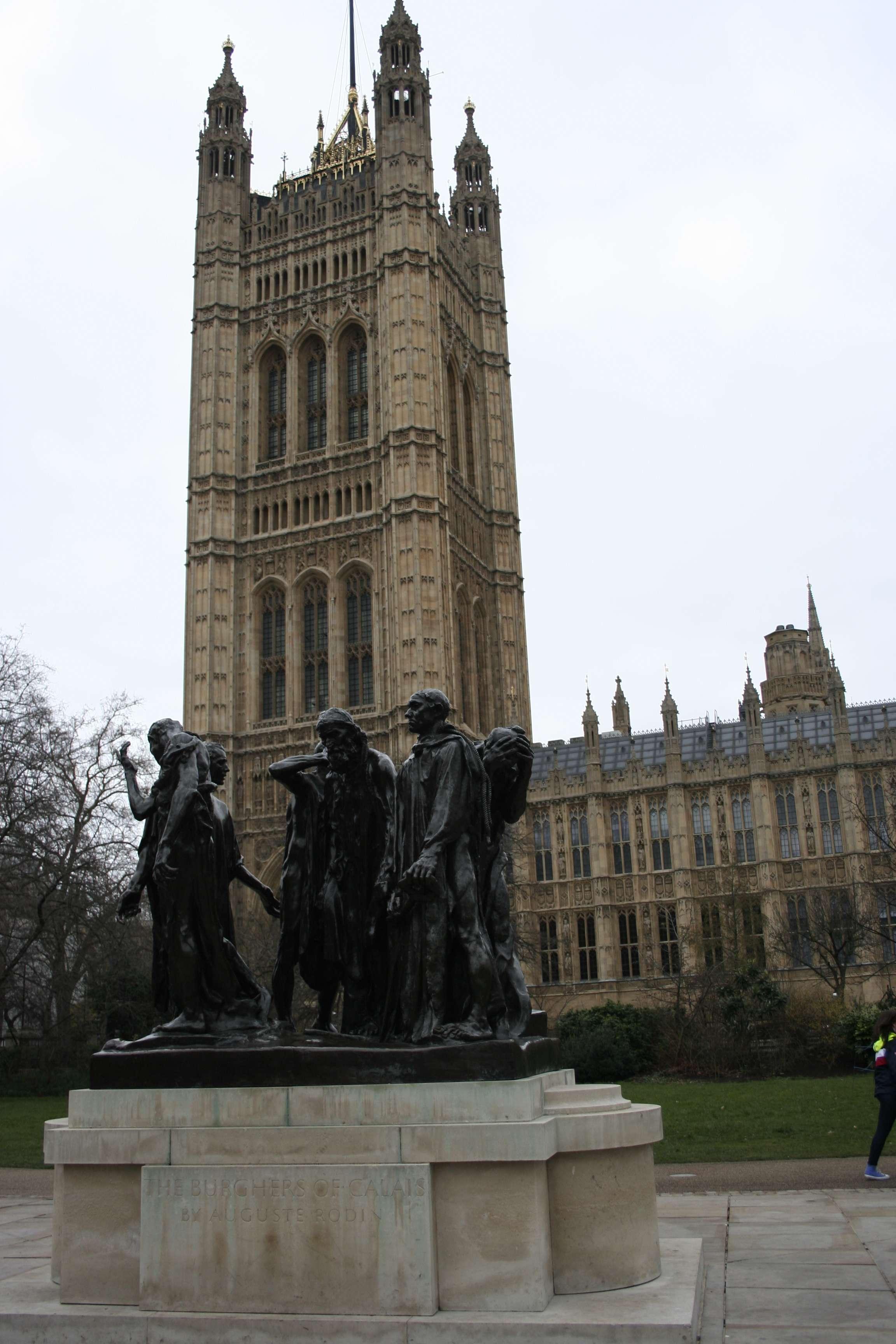 London_0174 Bourgeois de Calais par Rodin Houses of Parliament