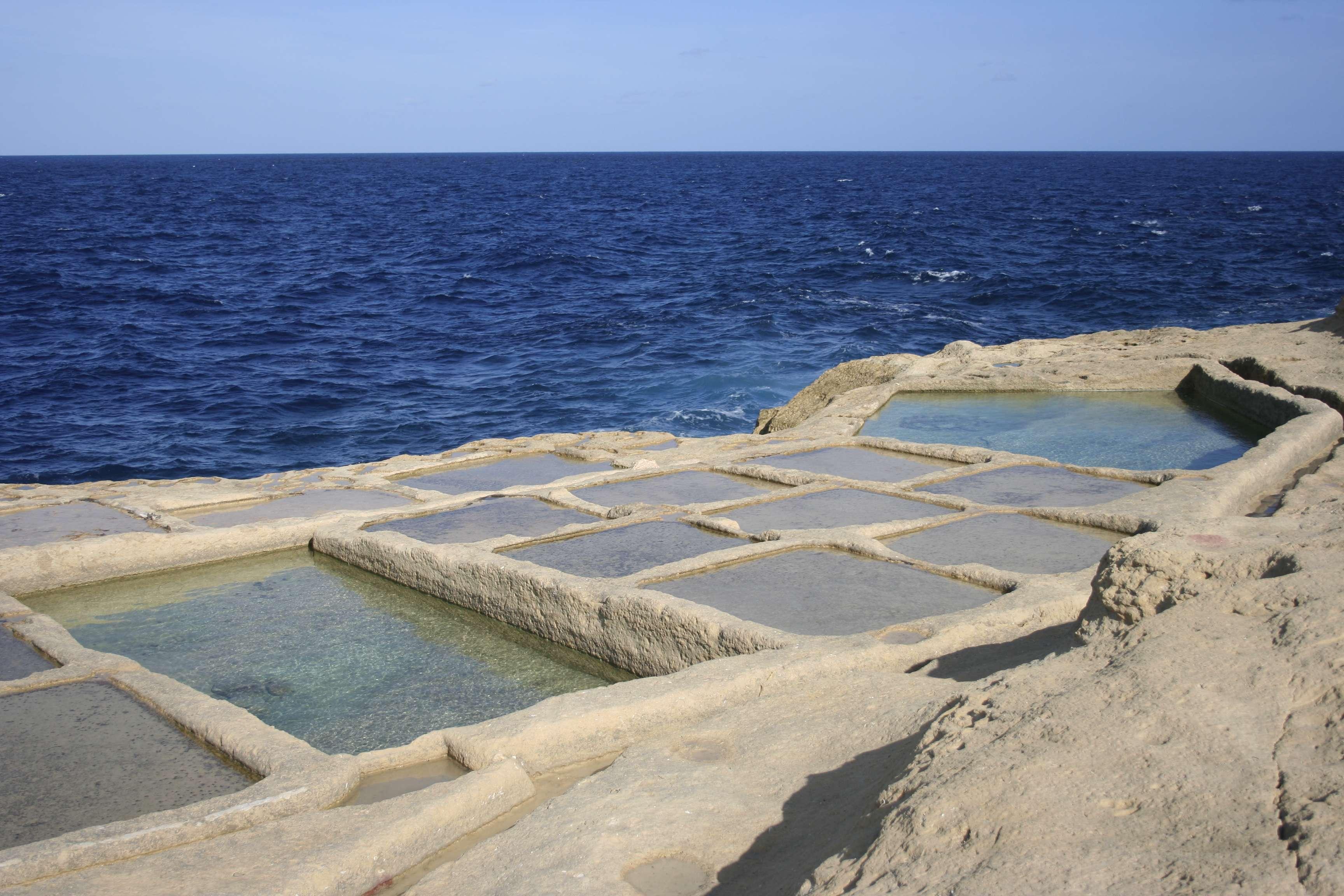 Malte 5091 Gozo casiers a sel vers Wied L-Ghasri