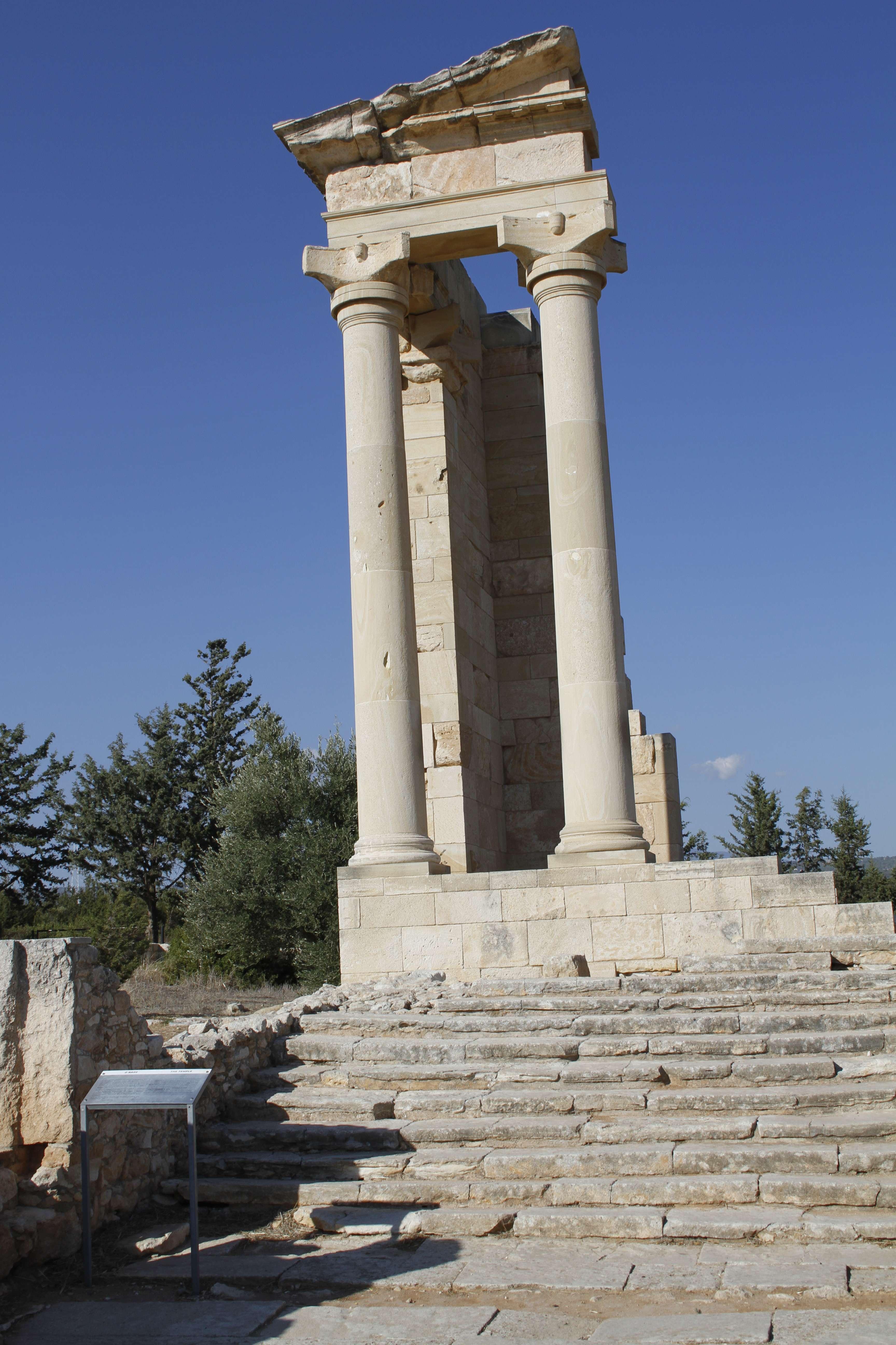 Chypre_0151 sanctuaire d Apollon Hylates reconstruction temple