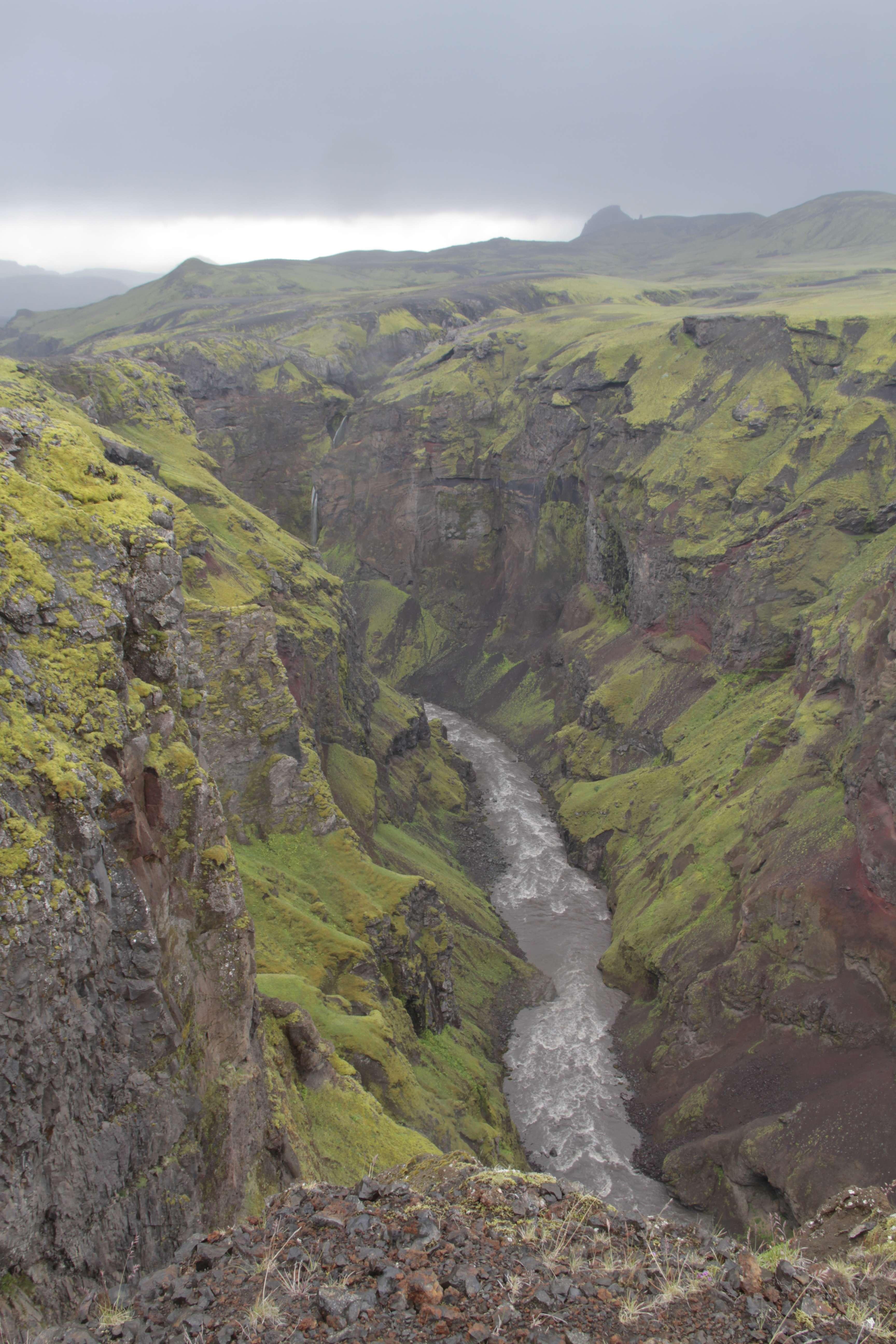Islande_0594 trail jour 2 Emstrur - le canyon Markatflojogur 18 juillet