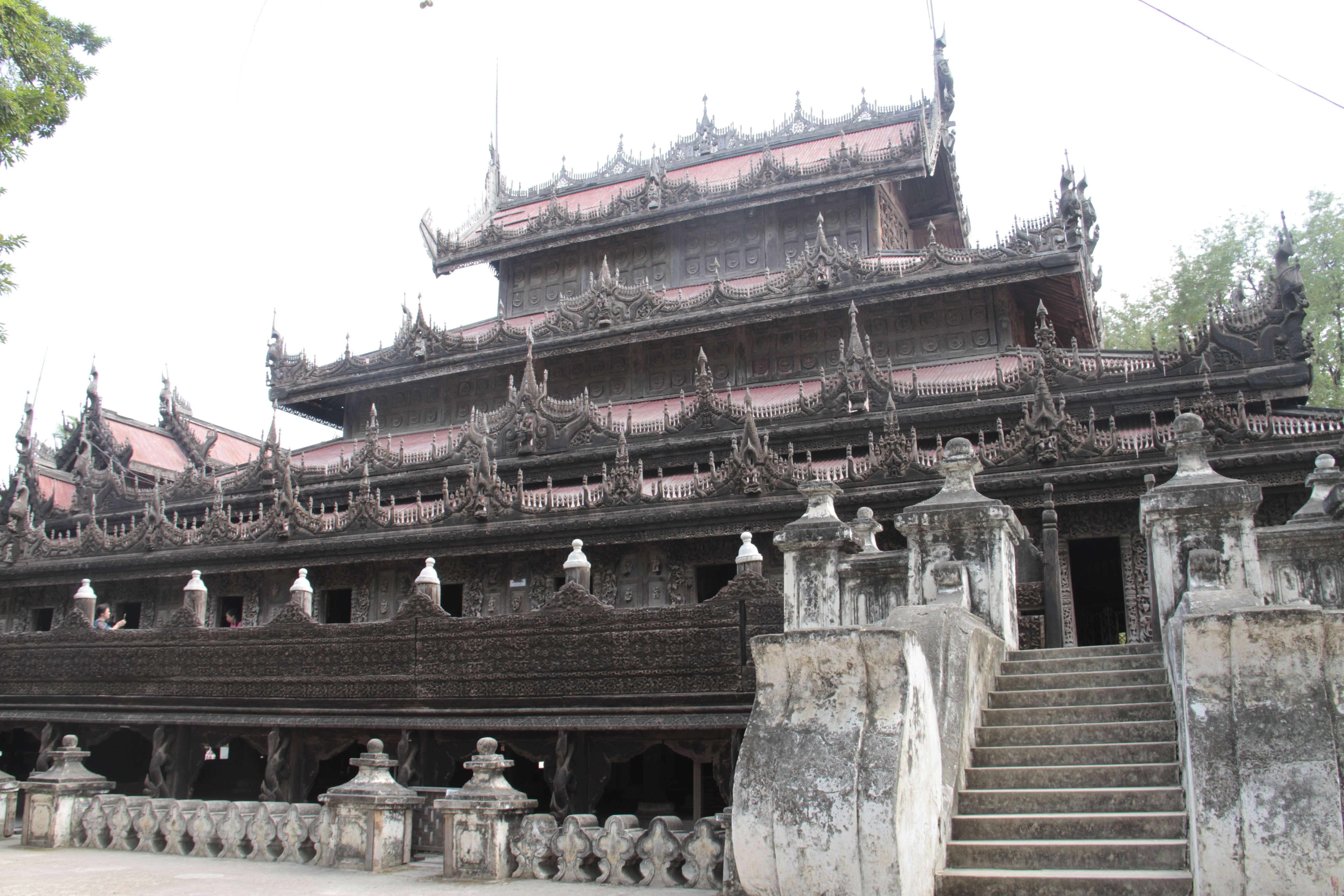 Myanmar fevrier 2019_0887 Mandalay Shwe Nandaw Monastery
