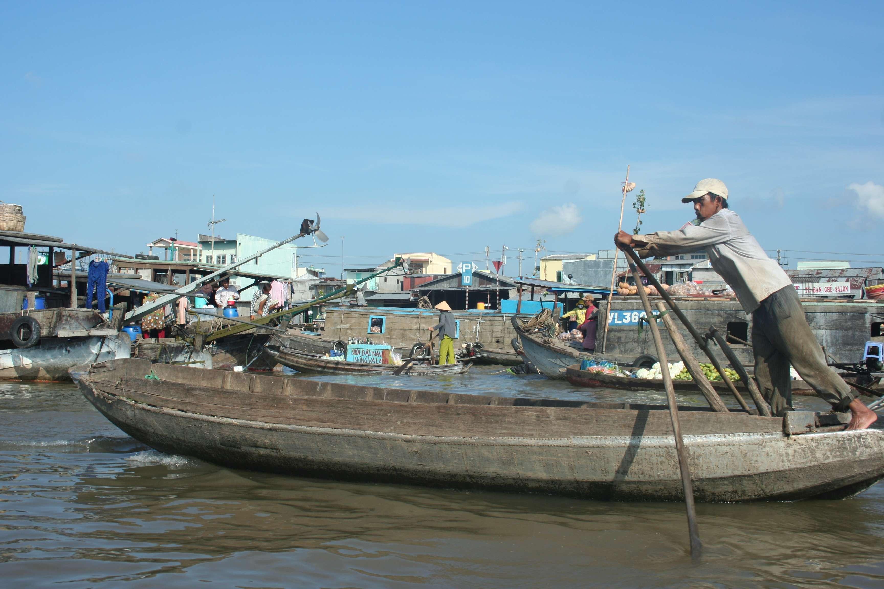 20120420_431 Delta du Mekong marche flottant